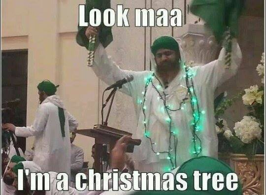 Walking Christmas tree in Pakistan